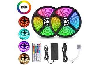LED lights with waterproof IP65 300 LED lights with remote control 5m color changing RGB SMD 5050 rope lights suitable for KTV bedroom kitchen TV decorative lighting(44-KEYS,waterproof)