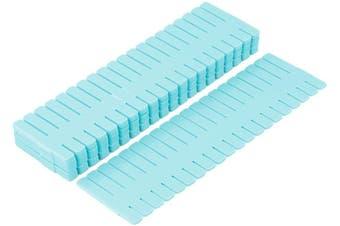 4Pcs/Set DIY Plastic Grid Drawer Organizer Adjustable Divider Drawer Dividers Separators Household Locker Space Saving Tool(32*7cm-blue)