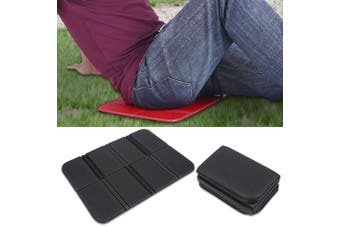 Vbestlife Foldable Foam Mat Camping Seat Mat Pad Chair Cushion Seat Pads Foldable Folding Waterproof Picnic Seat Mat Pad Cushion for Outdoor Hiking Mountaineering 3pcs(Black)