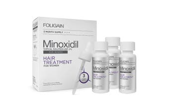 Foligain - Minoxidil 2% Hair Regrowth NEW Treatment For Women 3 Month Supply