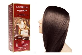 Surya Brasil Henna Cream Kit - Dark Brown 70 ml, Natural Hair Colour