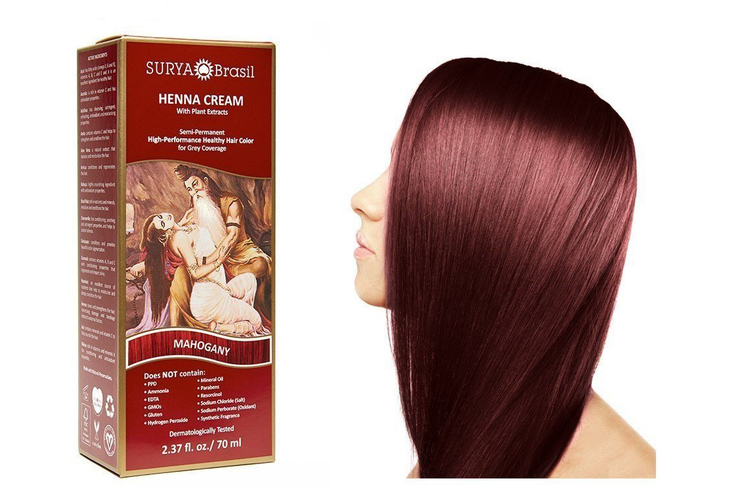 Surya Brasil Henna Cream Kit - Mahogany 70 ml, Natural Hair Colour