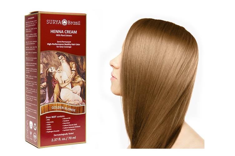 Surya Brasil Henna Cream Kit - Golden Blonde 70 ml, Natural Hair Colour