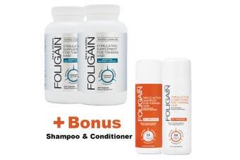 FOLIGAIN STIMULATING REGROWTH, Bonus Pack,For Men,HAIR LOSS SUPPLEMENT
