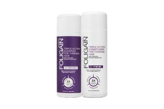Foligain - Hair Loss Shampoo & Conditioner, Women's Travel Pack with 2% Trioxidil 2 x 100ml