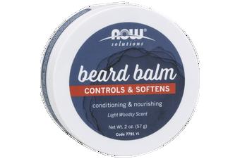 Now Foods - Beard Balm, Controls & Softens Facial Hair, 57g (2oz)