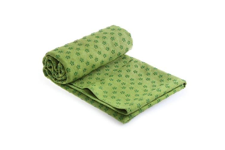 Microfiber Non Slip Yoga Mat Yoga Towel Green