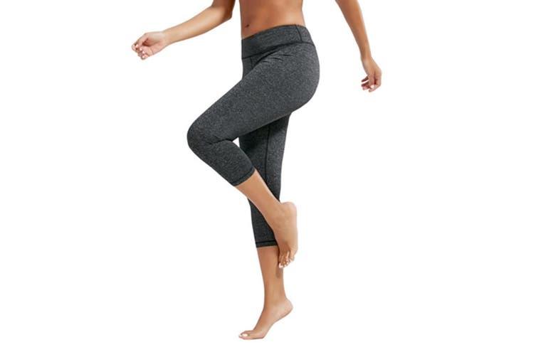 Women's 3/4 Length Yoga Capris Power Flex Running Pants Workout Leggings S
