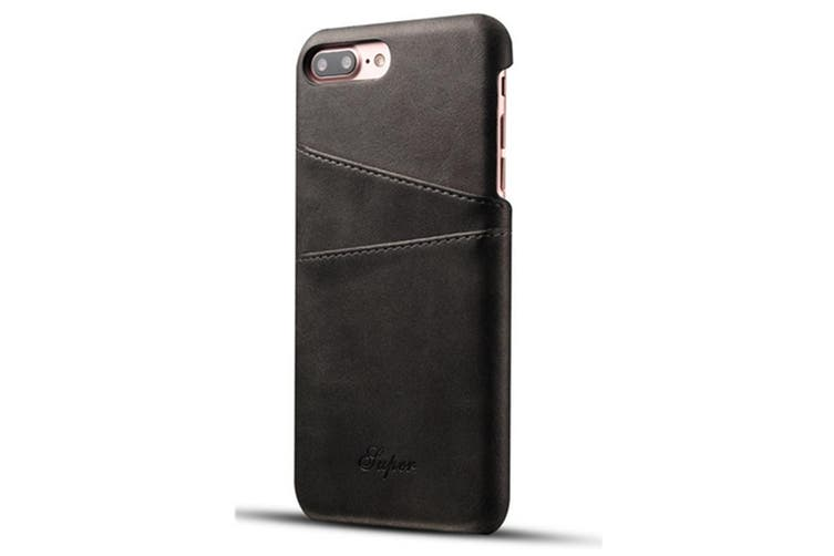 Leather Snap On Cover Case For iPhone 2 Card Holder Slots  SamSungS8