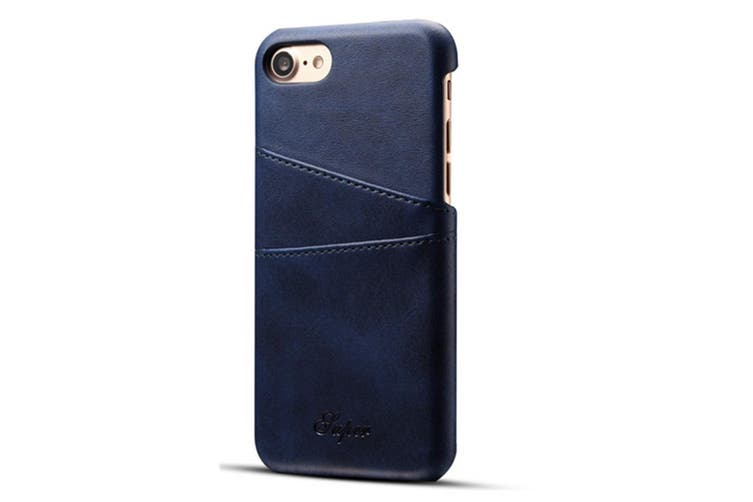 Leather Snap On Cover Case For iPhone 2 Card Holder Slots  SamSungS9Plus
