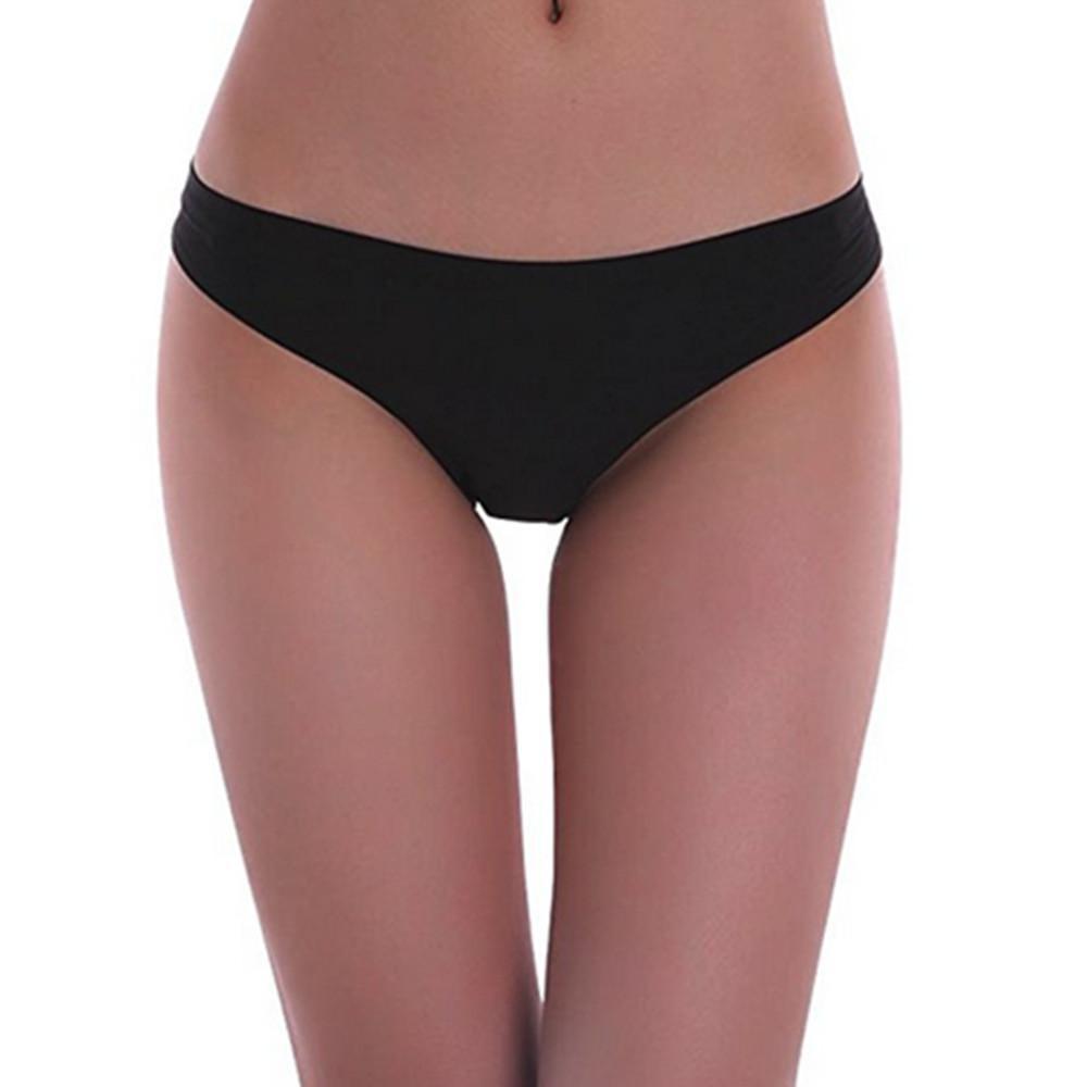 3 Pack Women Invisible Seamless Bikini Underwear Half Back Coverage Panties