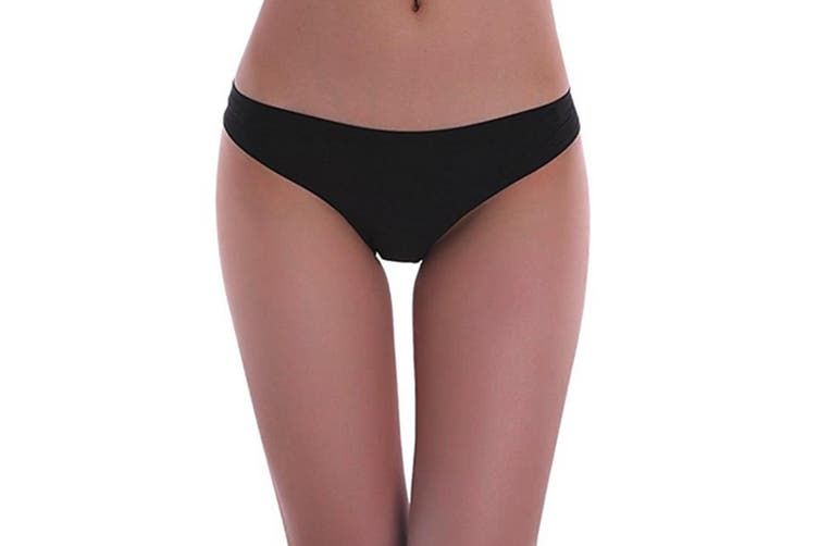 6 Pack Women's Invisible Seamless Bikini Underwear Half Back Coverage Panties S