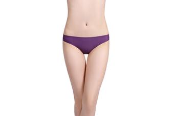 6 Pack Women's Invisible Seamless Bikini Underwear Half Back Coverage Panties M