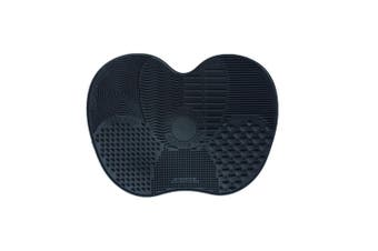 Silicone Makeup Brush Cleaner Pad Washing Scrubber Board Cleaning Mat  Black