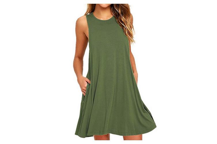 Women's Sleeveless Casual Loose Tank Summer Dress  XL