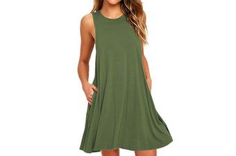 Women's Sleeveless Casual Loose Tank Summer Dress  XXXL