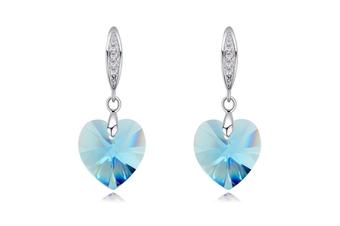 luxury crystal Heart shaped earrings Hailan