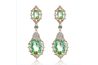 Crystal Rhinestone Teardrop Dangle  Elegant Earring  G00182