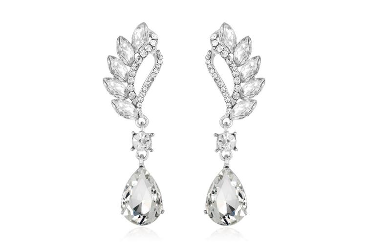 Reinston Luxury Crystal Dangle Earrings  Crystal