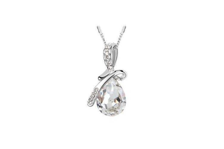 Swarovski Elements Luxury Crystal Water-drop Teardrop-shaped Fashion Pendant Necklace Crystal