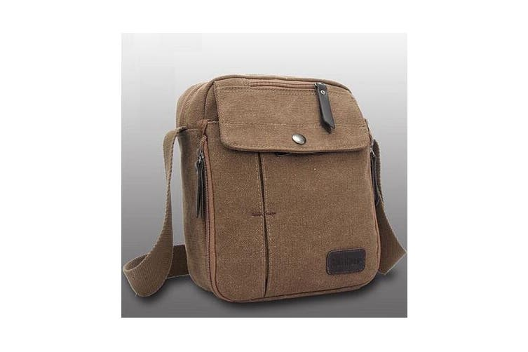 Unisex Casual Canvas Bag  Coffee