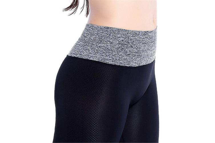 Womens Running Yoga Pants Workout Ninth Leggings M