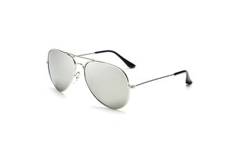 Unisex Adult Aviator Sunglasses SilverLens