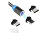 6.6ft Magnetic Phone Charging Cable, 3 in 1 Cable