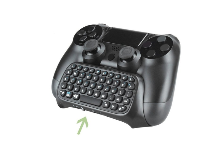 Wireless Bluetooth Keyboard Adapter for PS4 Controller with USB Cable