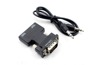 1080P Female HDMI to VGA Male Converter Adapter Dongle with 3.5mm Stereo Audio