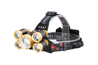 12000 Lumen Ultra Bright 5 T6 LED Headlight, USB Rechargeable Head Lamp Flashlight, 4 Modes Waterproof Zoomable Work Light for Outdoors, Household