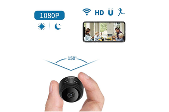 Mini Spy Camera WiFi HD Hidden A9 Camera Wireless 1080P Portable Small Nanny Cams and Hidden Cop Cameras with Cellphone App/Night Vision/Motion Activated for Home/Baby/Pet