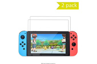 2 Pack Tempered Glass Screen Protector for Nintendo Switch Ultra Thin High Definition Ultra Clear Protective Film