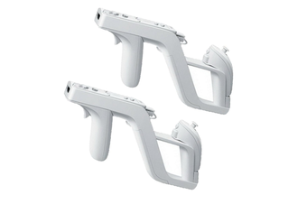 2 packs Zapper Light Gun for Wii - Remote Wireless Wii Controller Link Nunchuk for Shooting Games