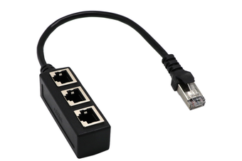 RJ45 Ethernet Cable Adapter Splitter 1 Male To 3 Female Port LAN Network