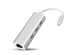 USB C to USB3.0 & Ethernet Adapter for MacBook Pro 2018/2017/2016, iPad Pro, MacBook air 2018, XPS 13/15 and More