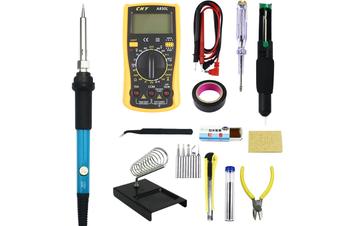 1 set of 14 pcs Soldering Iron Kit, Updated Soldering Gun Kit Best for Electric, Jewellery & Welding Work