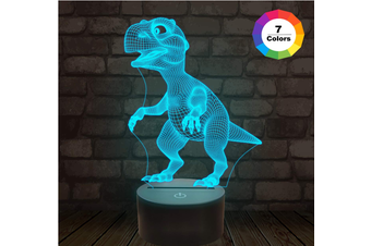 3D Night Lights for Kids Dinosaur Night Light T-Rex Illusion Lamp 7 Colors Changing