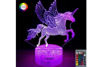 Unicorn Night Light for Kids,Dimmable LED Nightlight Bedside Lamp