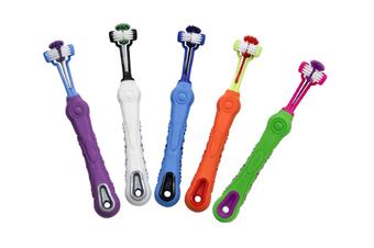 5 Pack Dog Cat Toothbrush Three Sided Pet Toothbrush Dog Brush