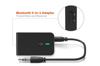 Bluetooth Transmitter / Receive 2-in-1 Wireless 3.5mm Adapter Plus for TV / Home Sound System