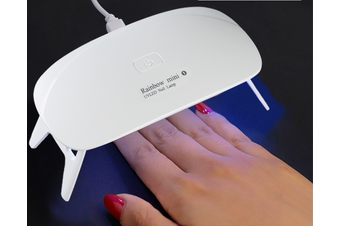 Rainbow mini 6W LED UV Nail Dryer Curing Lamp 60S Timer USB Portable for Gel Nails Based Polishes