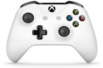 Wireless Controller Game Gamepad for MicroSoft Xbox One S/X Windows White  - without 3.5mm jack