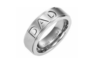 Dad  Engraved Titanium Men Ring