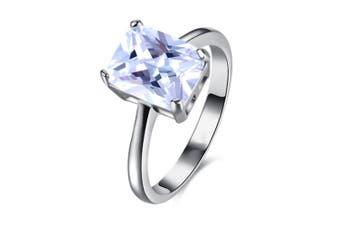 women lab Platinum Plated Cubic Zirconia  ring