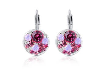 Rose Gold Plated Multi-colored Austrian Crystal Earrings