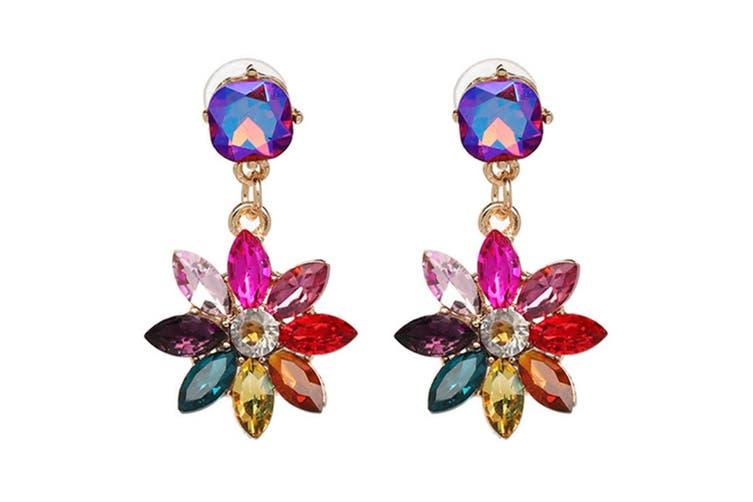 Gorgeous Rhinestone Crystal Floral Earrings 61