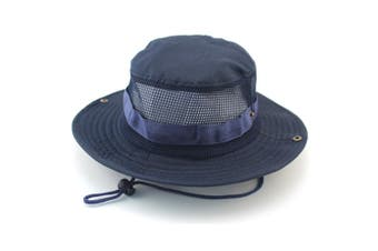 Outdoor Fishing Wide Caps, Canvas Boonie Hunting Fishing Caps Navy