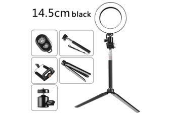 DC5V 5W 64 LED Ring Light Round Selfie Camera Lamp black 1