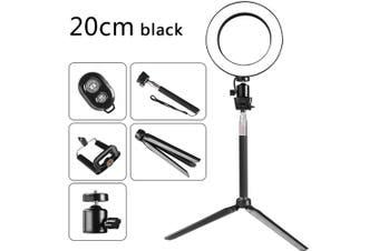DC5V 5W 64 LED Ring Light Round Selfie Camera Lamp black 3